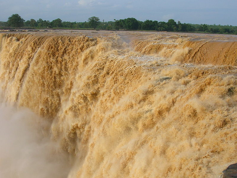 Chitrakoot falls during monsoon
